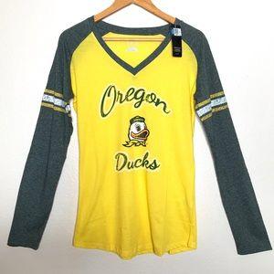 Champion Long Sleeve Oregon Ducks Raglan Tee